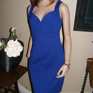 ♥ Bodycon Dress Laundry Shelli Segal Royal Blue